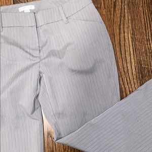 New York & Company Grey Striped Ankle Pant